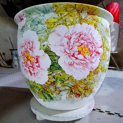 张志文牡丹陶瓷艺术 002